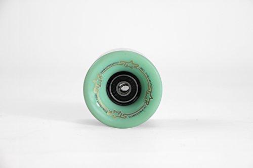 Star Skateboard® Lot de 4 60 mm roues & # x2605 – Roulements ABEC 7 de 78 A & # x2605 ; pour tous les Vintage Cruiser Boards & # x2605 ;, Sp-sk-01-001-mint, Pepper Mint