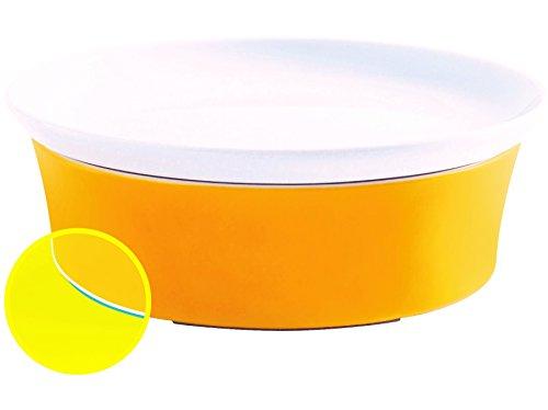 Kahla 32A325A72767C Magic Grip Auflauffrom mit Deckel bunt oval aus Porzellan Lasagne 20 cm Pastetemfrom Backfrom Orange Gelb