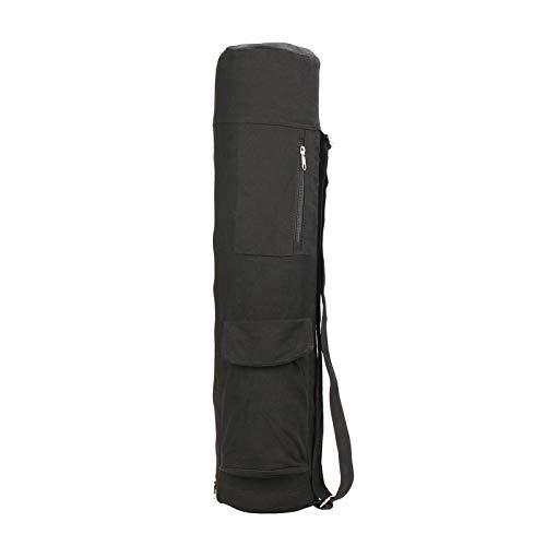Moares Fitness Sports - Bolsa para esterilla de yoga, multifuncional, bolsillo para yoga, gran capacidad, soporte para esterilla de yoga, para mujer, gimnasio, color negro