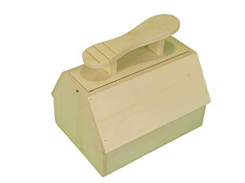 Caja betún. En madera de chopo en crudo, se puede pintar. Medidas: 27 * 20 * 25 cms