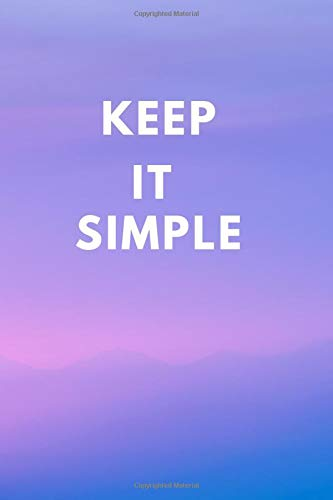 Keep It Simple Notebook: Lined Journal, 120 Pages, 6 x 9, Gift For Friends And Co-Workers , Purple Sky Matte Finish (Keep It Simple Journal)