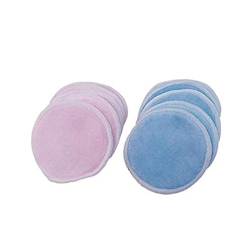 Herbruikbare Makeup Remover Pads Portable Tweezijdige 3 Lagen Bamboo Velvet Makeup Remover Pad Washable Facial Cleansing Doeken met Mesh Bag 1Set Make-up