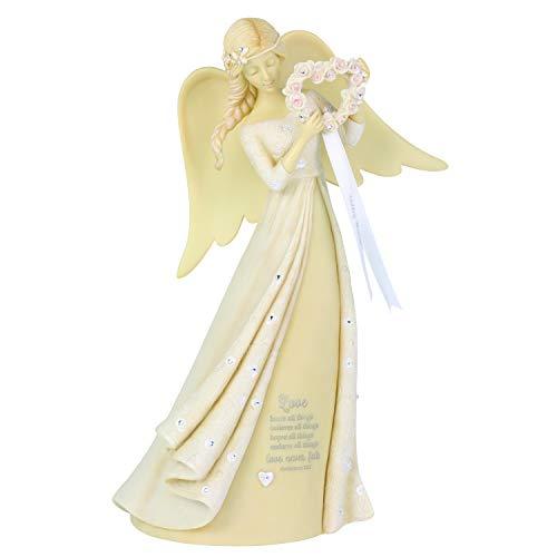 Enesco Foundations Wedding Angel Figurine, 9 Inch, Multicolor