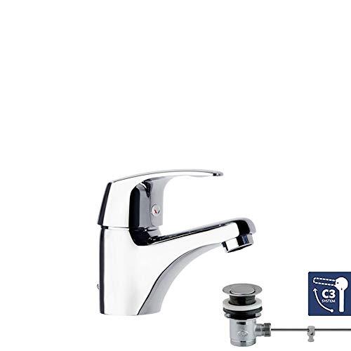 Ramon Soler Vulcano Energy - Grifo monomando para lavabo (con sistema de...