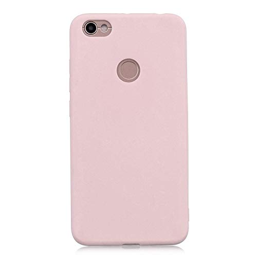 cuzz Kompatibel mit Xiaomi Redmi Note 5A Hülle Hülle+{1 x Panzerglas Schutzfolie} Silikon Schutzhülle Handyhülle,Outdoor Stoßfest Schutzhülle Schmaler Handyschutz,Staub & Scratch-Stoßfest-Pink
