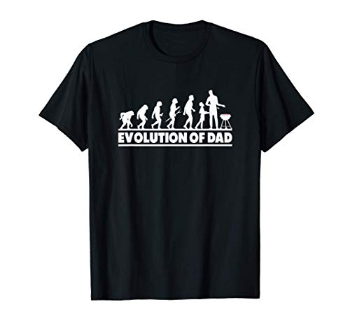 Evolution Of Dad Grillen Vatertag Lustig BBQ Kugelgrill T-Shirt