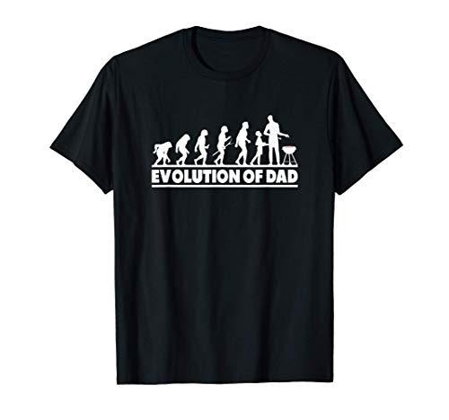 Evolution Of Dad Grillen Vatertag Lustig BBQ Kugelgrill T-Shirt