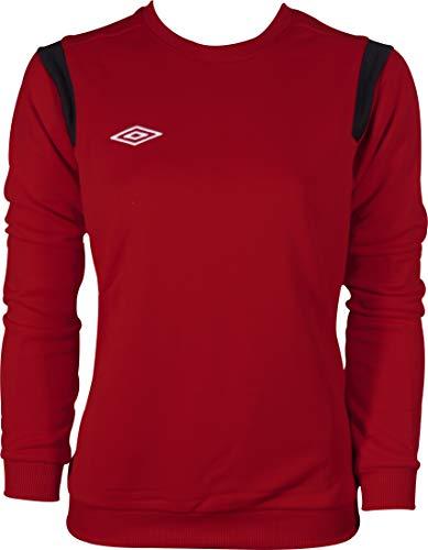 Umbro Classic Womens Training Sweatshirt - Red-M