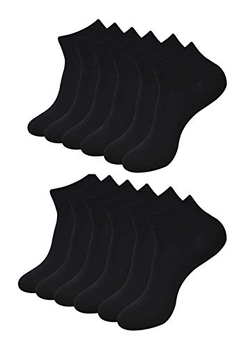 BALENZIA Men's Ankle Length Cotton & Spandex Socks (Pack of 6)