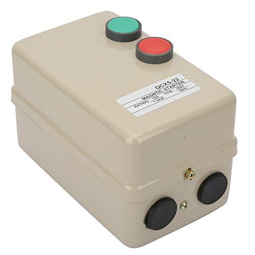 Arrancador de motor eléctrico magnético, arrancador magnético de motor trifásico AC380V, arrancador de control síncrono de motor de 7.5KW con protección de sobrecarga para sobrecarga, protección igual