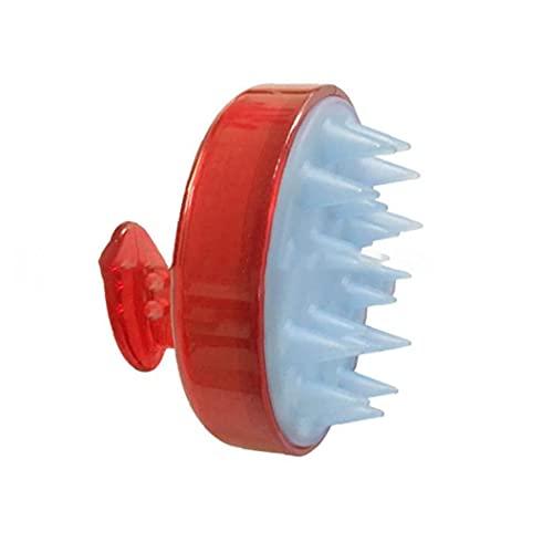 brosse Shampooing silicone souple massage du cuir chevelu laveur de silicone peigne de silicone pour hommes, femmes rouge