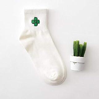 Calcetín de algodón para Mujer Calcetines Cortos para Mujer de Verano Bordado de algodón Calcetín Lindo Calcetines Divertidos Calcetines para Mujer