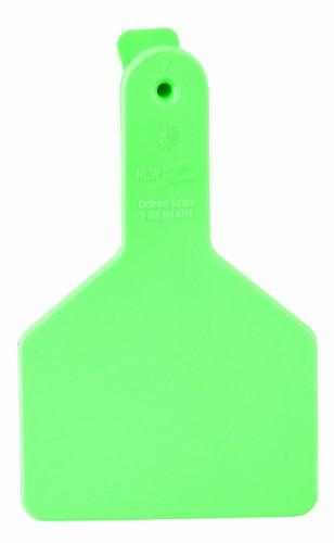 ZTags Lot de 25 étiquettes Vierges pour Mollets à col Long Vert