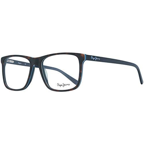 Pepe Jeans modische Herren Kunststoff Brille Vollrand-Style Braun