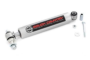 Rough Country N3 Steering Stabilizer fits 87-06 Jeep Wrangler TJ YJ Cherokee XJ ZJ   02-10 Silverado Sierra HD   8731730