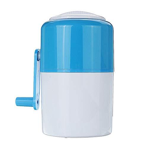 QLJJ Mill Moulin Manuel Ice Crusher Shaver Maker Portable Snow Cone Ménage Concassage Robot culinaire à manivelle Accessoires de Cuisine (Color : Blue, Size : 14.5x22.5CM)