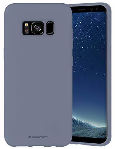 Goospery Liquid Silicone Case for Samsung Galaxy S8 (2017) Jelly Rubber Bumper Case with Soft Microfiber Lining (Lavender Gray) S8-SLC-LGRY