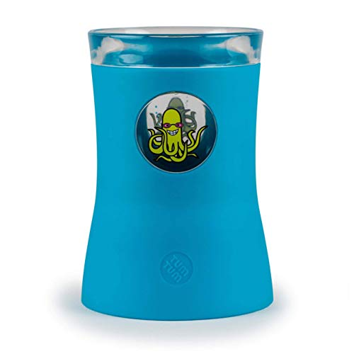 TUM TUM Junior Cup Kinderbecher - Anti-Kipp Junior Becher - Heissgetränke Becher - 250ml - extra breiter Fuß - Kindertasse standfest - Trinkbecher bruchsicher - BPA-frei (Ollie Oktopuss)