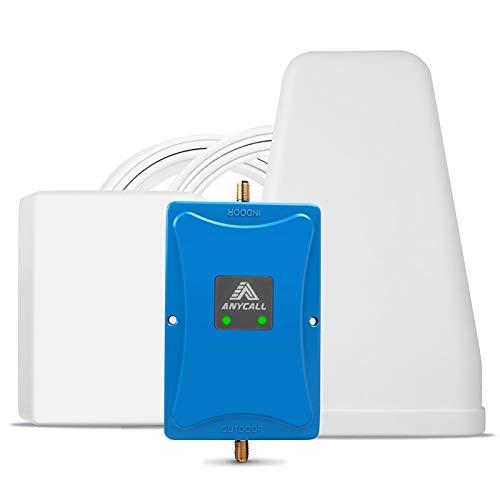ANYCALL Amplificador Señal Movil 4G/3G/2G Repetidor gsm 800/900MHz Mejorar la Red y Llamar Soporte Movistar/Orange/Vodafone para Casa/Oficina