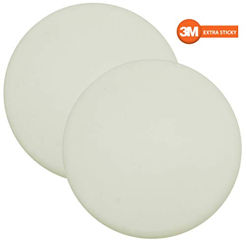 Premium Quality Large 2 Pcs Door Bumper Self Adhesive 3M Sticker Strong Stickiness Wall Protector Guard Door Knob Stopper 32 Inches Rubber Round White Silicone Door Handle Bumper Set