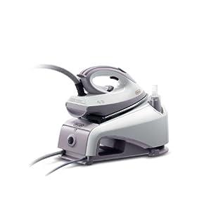 De'Longhi VVX1420 – Centro de planchado, 2200 W, 0.85 L, acero inoxidable, blanco/morado