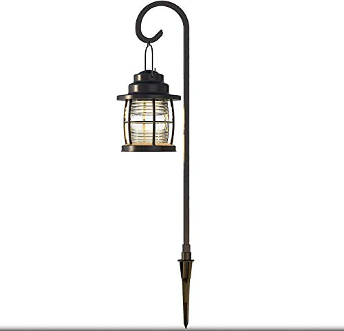 GOODSMANN Landscape Lighting Low Voltage Lighting 1.1W Path Floodlight for Outdoor Lights with Metal Stake and Connector 4110-01