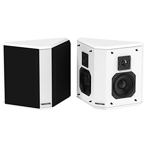 Fluance SXBP2WH Home Theater Bipolar Surround Sound Speakers (White)