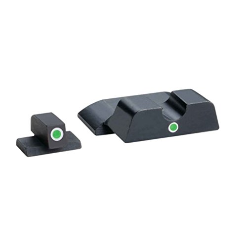 AmeriGlo Tritium I-Dot Green with White Outline Sight Set for Smith and Wesson M and P Shield