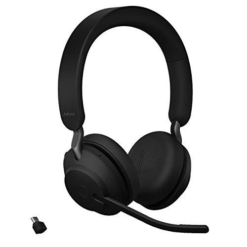 Jabra Evolve2 65 MS Wireless Headphones with Link380c, Stereo, Black – Wireless...