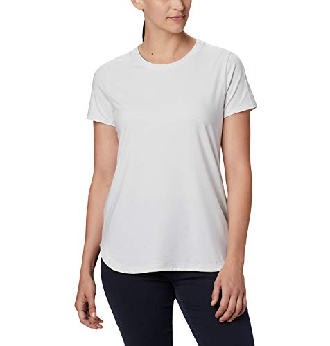 Columbia Firwood Camp II Camiseta térmica de Manga Corta, Mujer, Blanco (White Small Stripe), XS