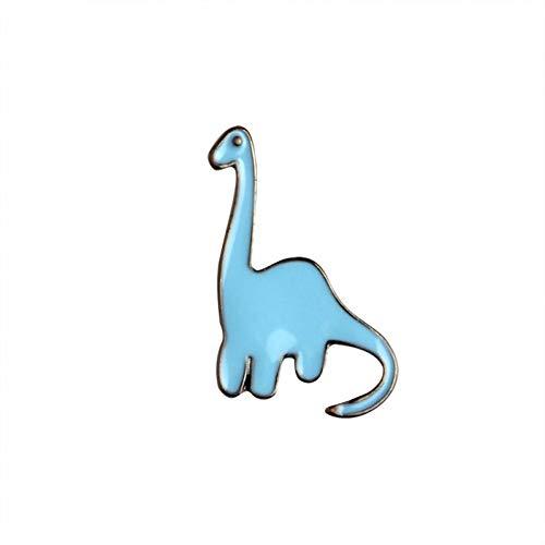 JTXZD broche met cartoon-motief, kleurrijk, dinosaurus, apatosaurus, stegosaurus, naalden om zelf te maken aan pin denimjack, pin