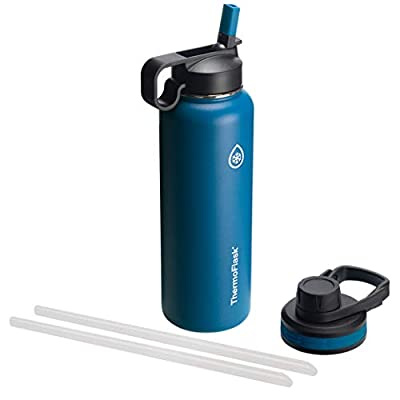 Thermoflask Double Stainless Steel Insulated Water Bottle, 40 oz, Cobalt