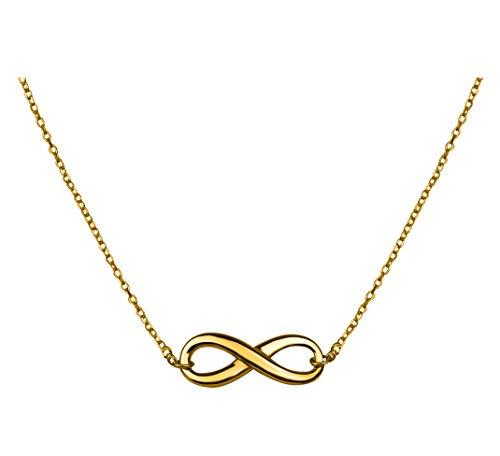 SOFIA MILANI Damen Halskette Unendlichkeit 925 Silber Gelb Vergoldet 50113