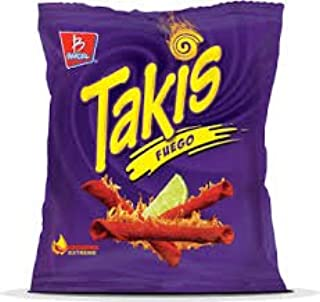 Takis Fuego Hot Chili Pepper & Lime (Pack of 12) - 4 oz