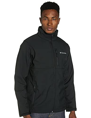 Columbia Men's Standard Ascender Softshell Front-Zip Jacket, Black, Small