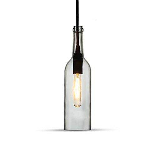 Lampadario LED da soffitto a forma di bottiglia in vetro Trasparente V-TAC