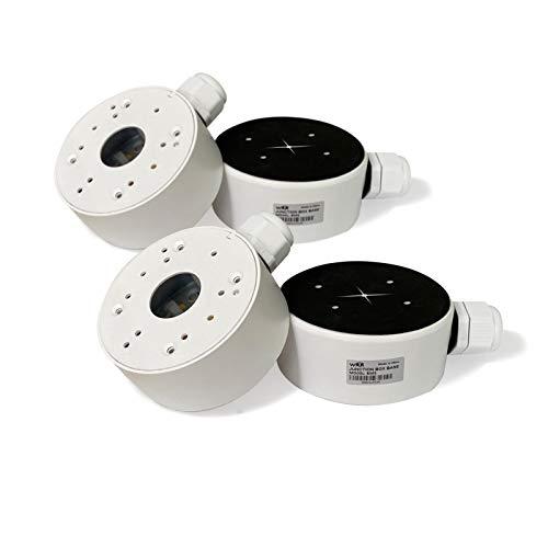 WiTi Caja de Conexiones de Base Profunda, 3.7 Pulgadas para cámaras de vigilancia de Seguridad, Caja de administración de Cables, Domo de cámara IP CCTV y Metal sólido Tipo Bala (4 Paquete)