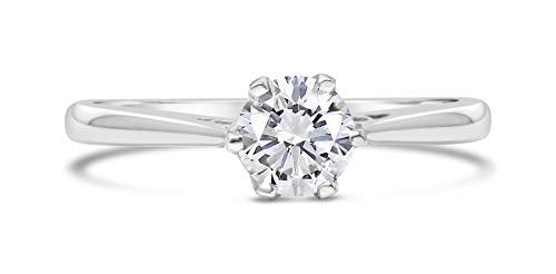 G&S Diamonds oro 375 oro blanco 9 quilates (375) blanco ligeramente coloredo/top crystal/i Diamond