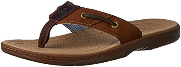 Sperry Mens Baitfish Thong Sandals, Brown/Buc Brown, 11