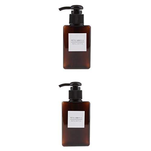 LOVIVER Amber Foaming Seifenspender 100ml 150ml Kapazität (2er Pack) Leere Plastikflüssigkeit Seifenpumpenflaschen für Seife, DIY Flüssigseife, Spülmittel, Kö