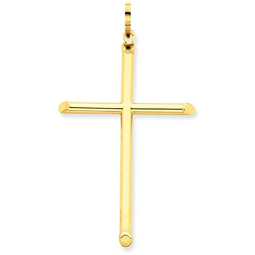 PRINS JEWELS Gold Kreuz Anhänger Aus 14 Karat 585 Gelbgold Unisex - 190522