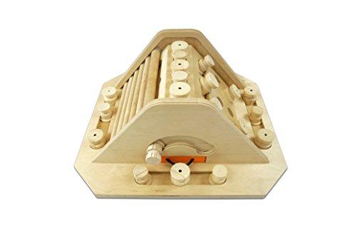 My Intelligent Dogs Interaktives Hundespielzeug aus Holz Pyramide, M