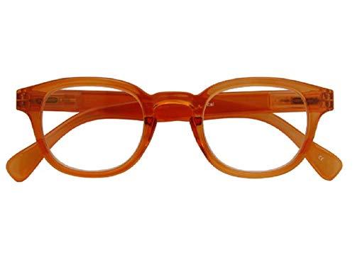 Croon Glasses Montel Orange Transparant - leesbril - +2.5 - Voor mannen en vrouwen - veerscharnieren