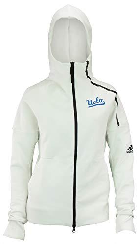 adidas UCLA Bruins Z.N.E - Chaqueta con capucha para mujer, XL, Blanco