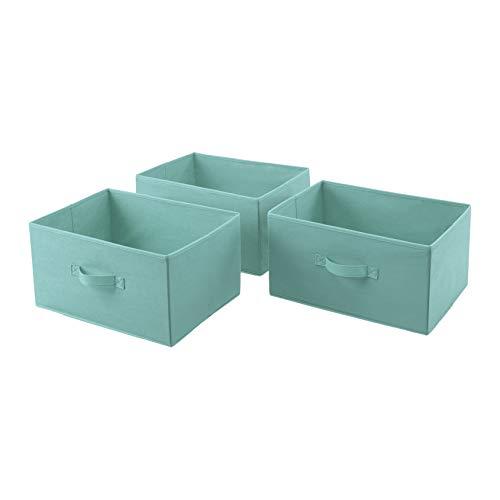 Tiroirs de rechange extra-larges en tissu pour commode à 5 tiroirs en tissu Amazon Basics - vert menthe