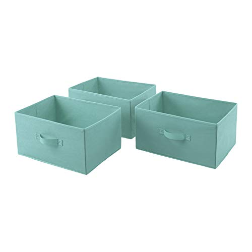 AmazonBasics Fabric 3Drawer Storage Organizer  Replacement Drawers Mint Green