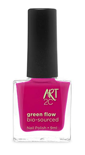 Art 2C 85 % Bio-sourced Vegan Ultra-Pure Patented Nail Polish - veganer, ultra-reiner Nagellack, zu 85 % auf biologischer Basis, 24 Farben, 9 ml, Farbe: Magenta 13