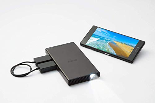 Sony MP-CD1 Portable Pico , Pocket- Sized, HDMI/MHL, DLP, Short-Throw, 120 Screen, 5000mAh Built-in Battery, Built-in Speaker, WVGA 854 x 480 1