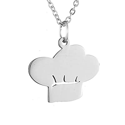 AOCHEE Chef Hat Shaped Pendant Necklace Cooking Symbol Jewelry ¡