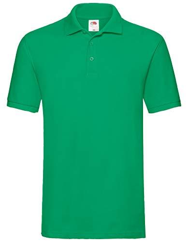 Fruit of the Loom Premium Polo Herren Polo-Shirt NEU, Größe:L, Farbe:maigrün